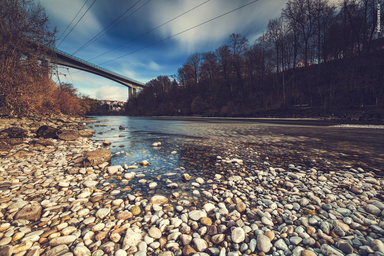 River Aare near Lorraine in Bern