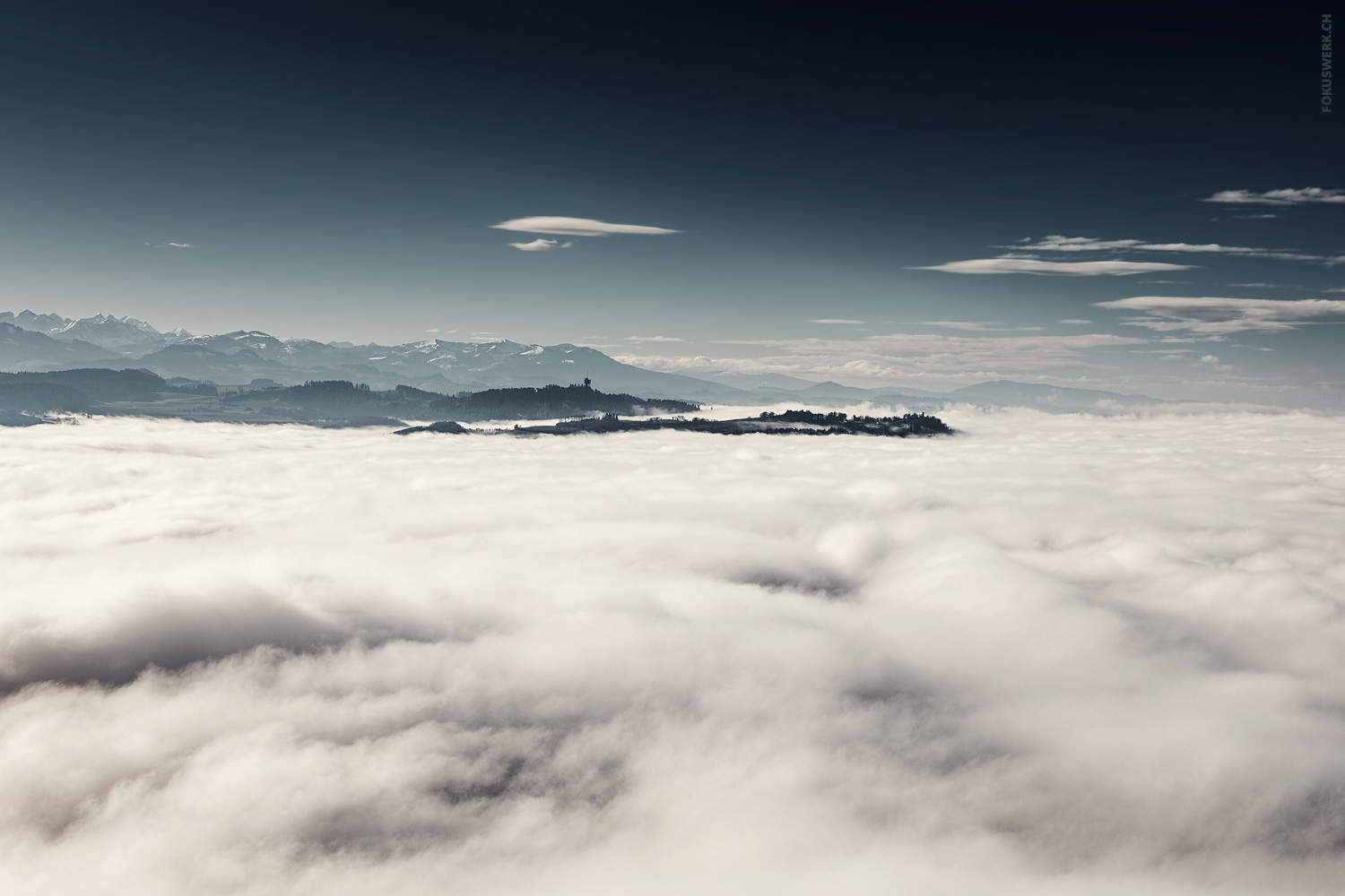 Thick fog over Bern